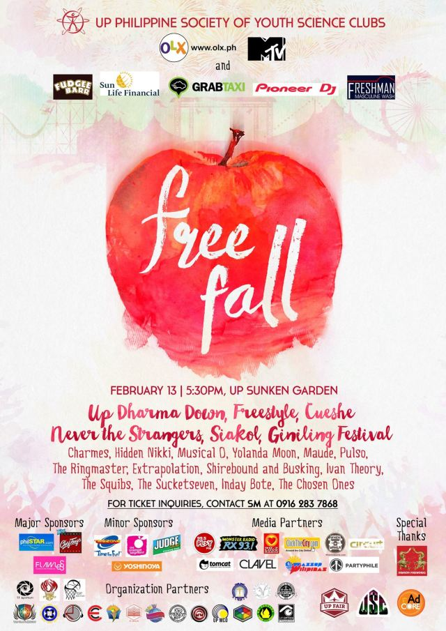 UP Fair 2015 Free Fall - Official Poster